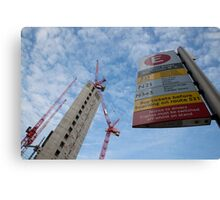 New flats  with good transport links! Canvas Print