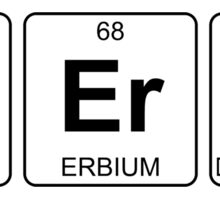 N Er Ds - Nerds - Periodic Table - Chemistry Sticker