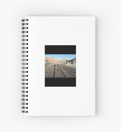 Long shadows in Atacama Spiral Notebook