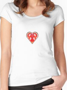 Folk heart 1 centre Women's Fitted Scoop T-Shirt