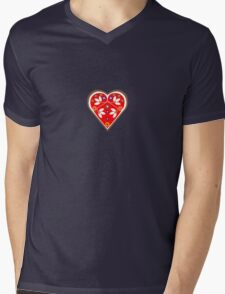 Folk heart 1 centre Mens V-Neck T-Shirt