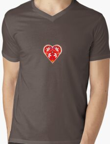 Folk heart 1 centre Mens V-Neck T-Shirt