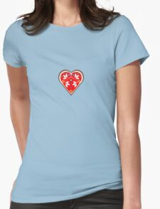 Folk heart 1 centre Womens Fitted T-Shirt