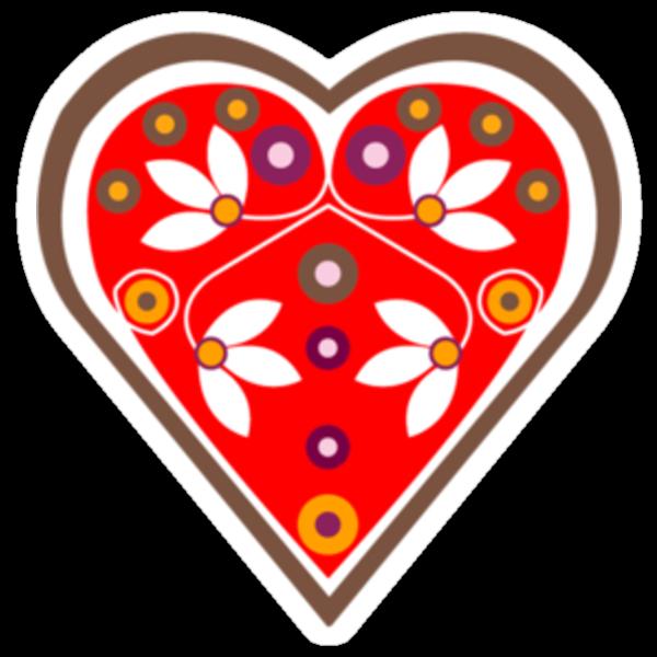 Folk heart 1 centre by venitakidwai1