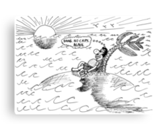 Occupy Solitude editorial cartoon Canvas Print