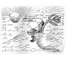 Occupy Solitude editorial cartoon Poster