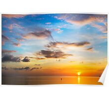 Tarpon Springs Sunset Poster