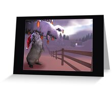 A Rabbit's Dream Christmas Greeting Card
