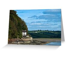 The Boat House at Laugharne Carmarthenshire Greeting Card