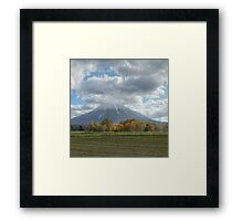 Seasons merge - Autumn to winter Framed Print