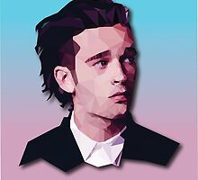 LOVE ME - Matty Healy vector portrait  by abflab