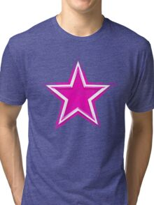 Pink Star for Dallas Fans Tri-blend T-Shirt