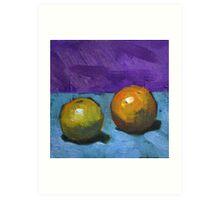 oranges on purple Art Print