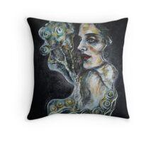 """""""Black cat (G. Klimt inspired)"""" Throw Pillow"""