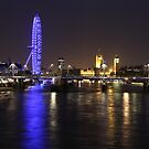 London at night by Llewellyn Cass