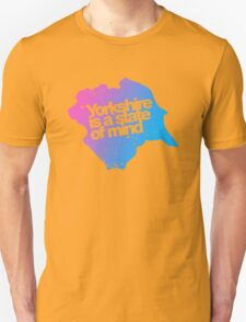 Yorkshire is a state of mind - Pink/blue Unisex T-Shirt