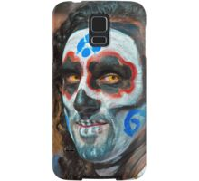 Painted face, day of the dead Samsung Galaxy Case/Skin