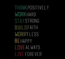 Think Positively. by tempuros