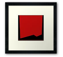 Space Uniform Red Framed Print