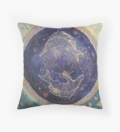 Sailfish Constellation Throw Pillow