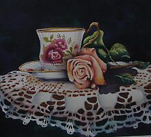 Teacup rose by cecilia elizabeth