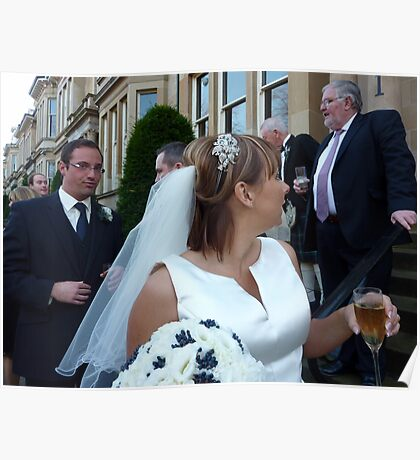 The Vicar, The Bride And A Relieved Groom Poster