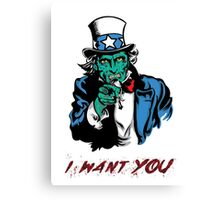 "UNCLE ZOMBIE ""I WANT YOU"" Canvas Print"