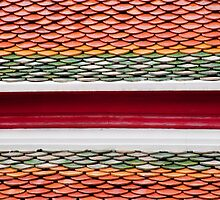 Orange, Red, And Green Tiles by phil decocco