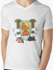 Wise Girl Mens V-Neck T-Shirt