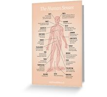 The Human Senses Greeting Card