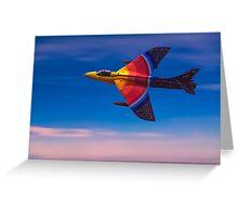 "Hawker Hunter F58 ""Miss Demeanour"" Greeting Card"