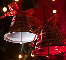 Christmas Bells in Red and White by 7horses