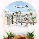 Christmas comes to John Wayne Airport... by Rob Beilby