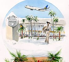 Christmas comes to John Wayne Airport... by Rob Beilby