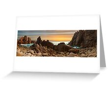 Across The Pinnacles - Panograph Greeting Card