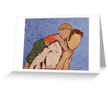 Atlas - lifting the world, his child, on his shoulders. Greeting Card