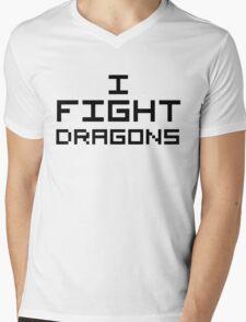 I Fight Dragons Mens V-Neck T-Shirt
