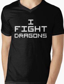 I Fight Dragons (Reversed Colours) Mens V-Neck T-Shirt
