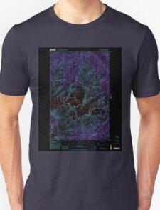 USGS Topo Map Washington State WA Mount Olympus 242523 1999 24000 Inverted Unisex T-Shirt