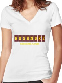 Rushmore Max Fischer Players Women's Fitted V-Neck T-Shirt
