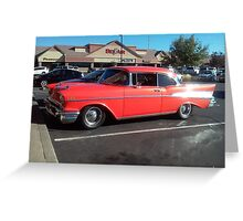 '57 Chevy Bel-Air in front of business named Bel Air!  Greeting Card
