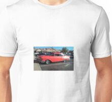 '57 Chevy Bel-Air in front of business named Bel Air!  Unisex T-Shirt