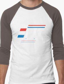 Red Lasers vs. Blue Lasers Men's Baseball ¾ T-Shirt