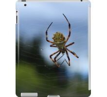 Yellow and White Spider iPad Case/Skin