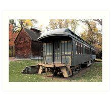 Old Time Train Car Art Print
