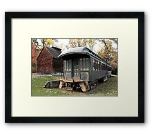 Old Time Train Car Framed Print