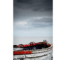 Little Red Row Boat Photographic Print