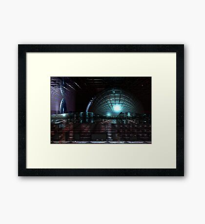 Colliding Spaces Framed Print