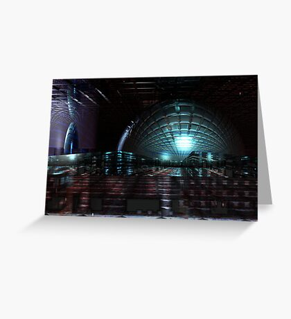 Colliding Spaces Greeting Card
