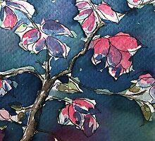 Watercolor iphone case by Ellen van Deelen